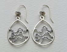 Tidelines Silver Earrings