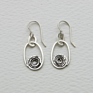 Earring Spiral oval
