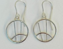 Stg silver wire crescent earrings